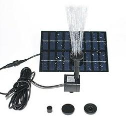 Outdoor Fountain Accessories Water Pump Solar Garden Pond Sm
