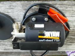 WAYNE Portable Transfer Water Pump With Suction  Attachment