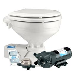 JABSCO Jabsco Standard Height Quiet Flush Electric Toilet -