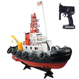 Fistone RC Seaport Boat 2.4G Workboat Tugboat 5CH Radio Cont