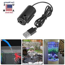 Small Water Pump Mini Mute Submersible USB 5V 1M Cable Garde