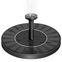 Zomma Solar Fountain Pump, Free Standing 1.4W Bird Bath Foun