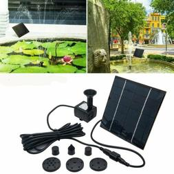 Solar Power Fountain Garden Pond Water Feature Pump Kit Pane