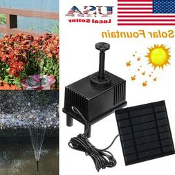 Solar Power Fountain Water Pump Kit Garden Plants Pond Pool
