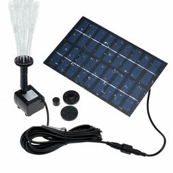 Solar Powered Water Pump Garden Yard Fountain Waterfall Pond