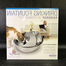 Pioneer Pet Stainless Steel  Fountain Raindrop Design , 60oz