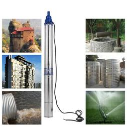 Submersible Deep Well water Pump 1 HP, 110V, 33 GPM, 400 ft