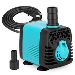 KEDSUM 130GPH Submersible Pump , Ultra Quiet Water Pump with