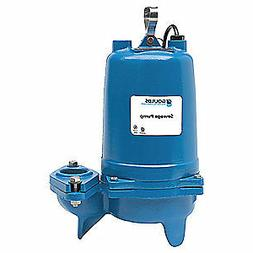 GOULDS WATER TECHNOLOGY Submersible Sewage Pump,3/4HP,230V,3