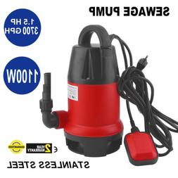 Submersible Sump Pump 1.5HP 3700GPH w/25ft Cord Water Sub Pu