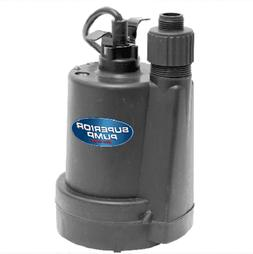 Submersible Utility Pump Water Pump 1/4 Hp Switchless Clog P