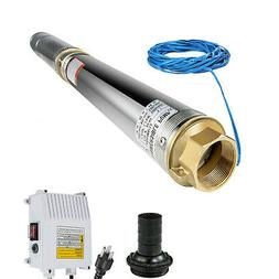 """Submersible Water Pump, Deep Well, 4"""", 1.5HP, 110V, 380 ft H"""