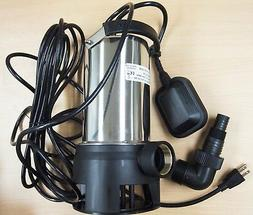 Submersible Water Pump Stainless Steel 1HP 10000 L/H Trash C