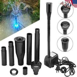 Submersible Water Pump with 12LED Lights for Fountain Pool G