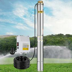 Submersible Well Pump 423FT 26GPM 220V 2HP Deep Stainless St