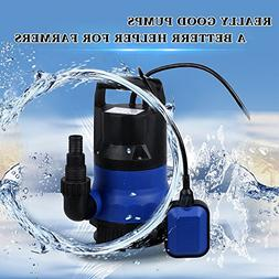Sump Pump 1/2 HP Submersible Pumps Automatic Electric Portab