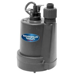 Superior 1/4 HP Submersible Thermoplastic Utility Pump Water