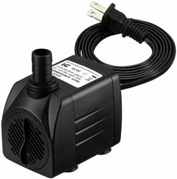 Upgraded 400GPH Submersible Water Pump with 36 Hours Dry Bur