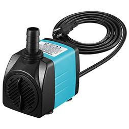 Homasy Upgraded 400GPH Submersible Pump 25W Ultra Quiet Foun