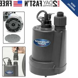 UTILITY PUMP 1/4 HP Thermoplastic Submersible Drain Swimming